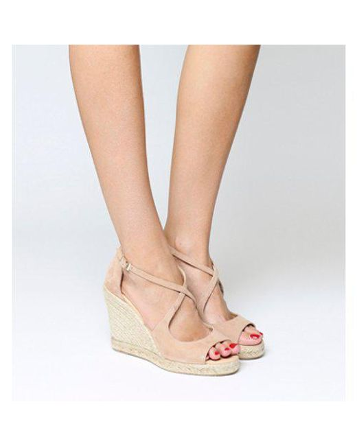 0ad1c643b881 Office Halkidiki Espadrille Wedge in Natural - Lyst
