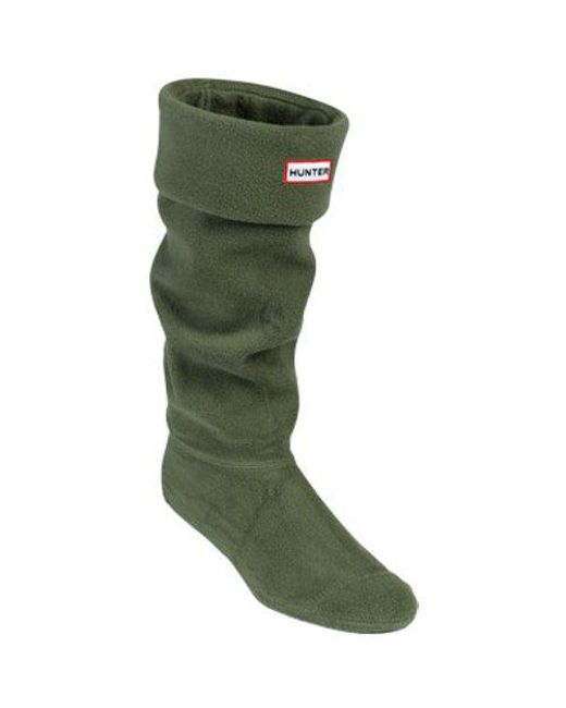 Hunter - Green Fleece Welly Sock - Lyst