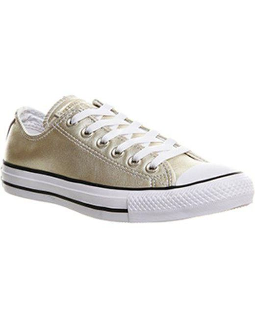 ... rose gold snake exclusive b596a closeout converse metallic all star low  leather lyst f0dcf 24c77 ... cab936985