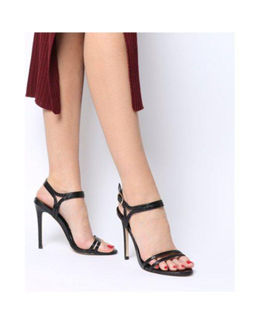 cac3e842d75 Lyst - Office Hot Cake- Strappy Sandal in Black - Save 4%