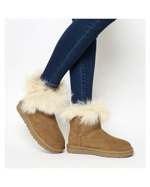 Office UGG Milla Fur Cuff CHESTNUT SUEDE Big Discount Cheap Online Sale Enjoy Free Shipping Buy Shop Offer For Sale Discount Fast Delivery 9FBkL