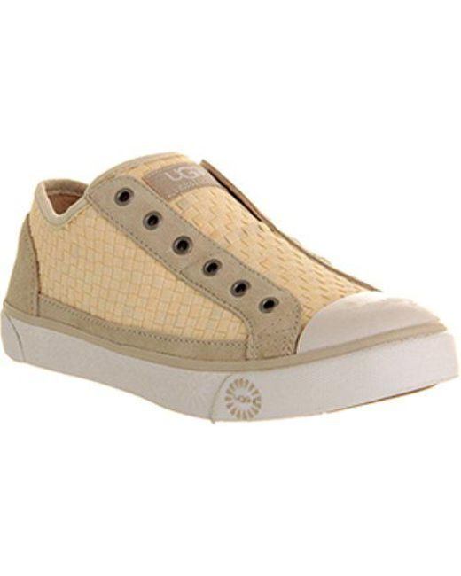 Ugg - Natural Laela Woven Sneaker - Lyst