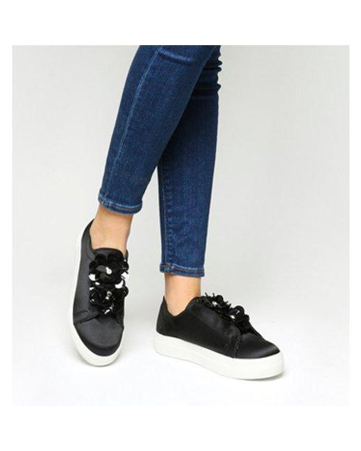 Office - Black Fliss Embellished Slip On Trainer - Lyst