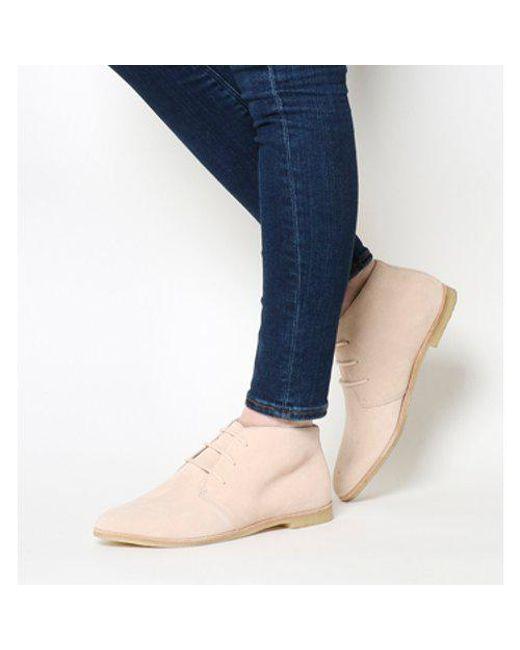 Clarks - Pink Phenia Desert Boot - Lyst