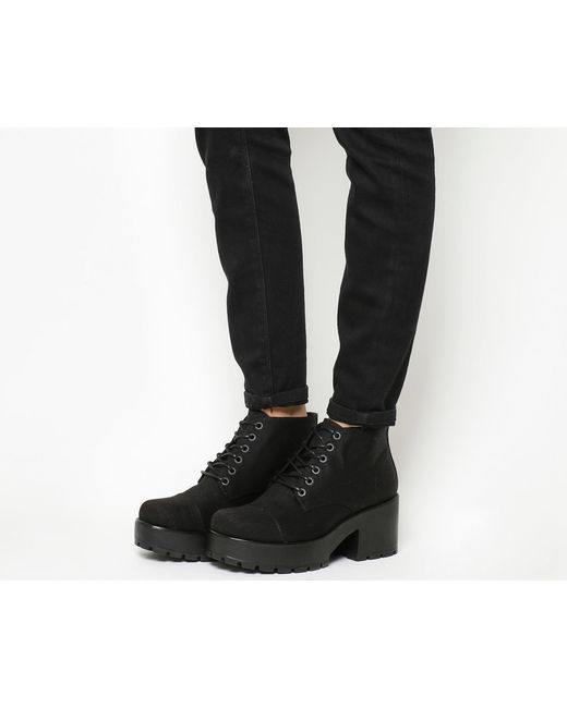 Vagabond | Black Dioon Lace Up Boots | Lyst