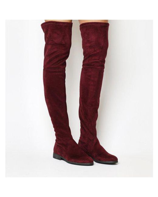 Office Red Eden Stretch Over The Knee Boots Lyst