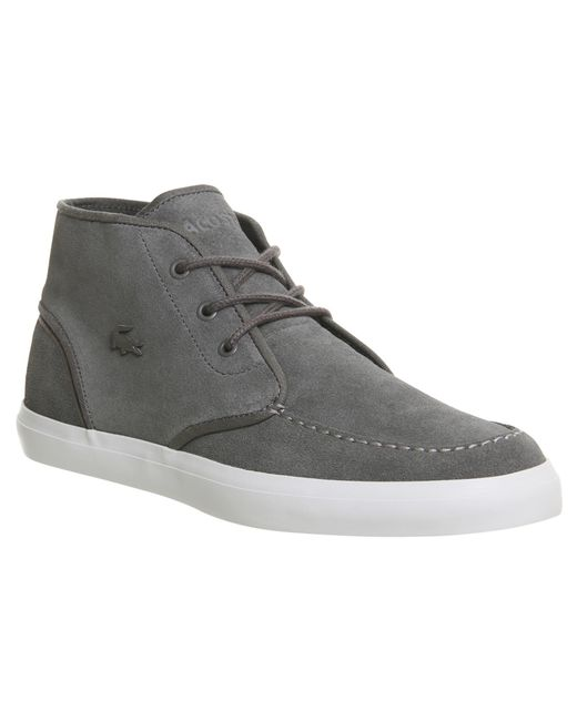 Lacoste   Gray Sevrin Mid for Men   Lyst