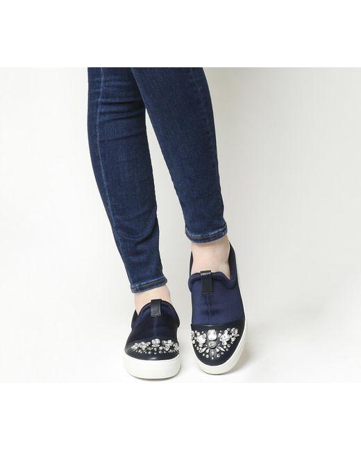Office | Blue Clash Jewel Toe Cap Slip On | Lyst