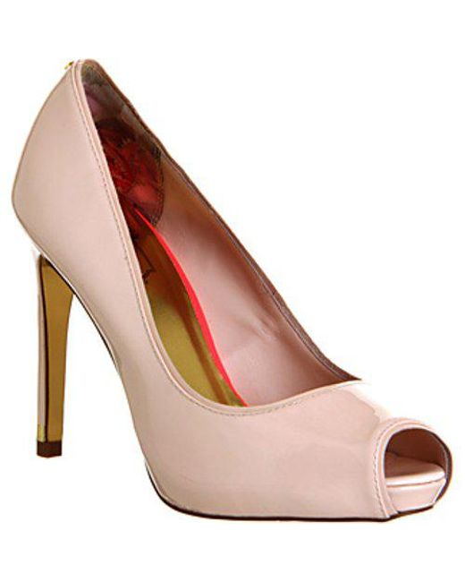 e71e8ca911a0 Ted Baker Glister High Heel in Natural - Lyst