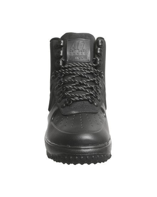 official photos b583e 48c3d ... Nike - Black Lunar Force 1 Duckboot Trainers for Men - Lyst ...