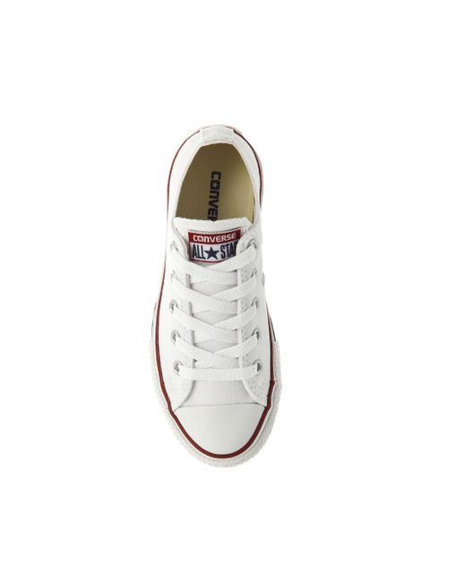 fe279938f3e0 ... Converse - White All Star Low Youth for Men - Lyst ...