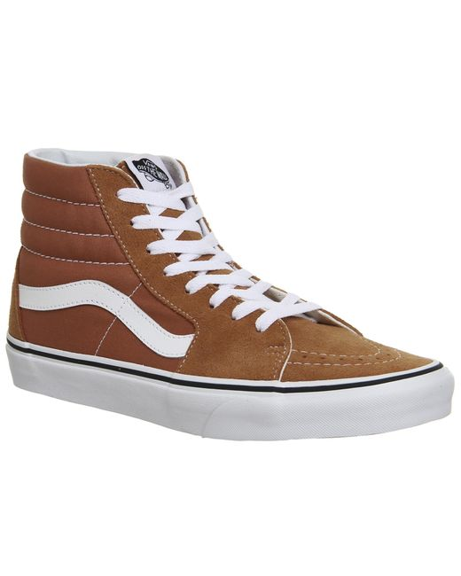 Vans - Brown Sk8 Hi Trainers for Men - Lyst