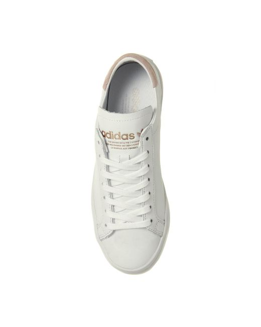 Adidas corte vantage formatori in bianco per gli uomini lyst