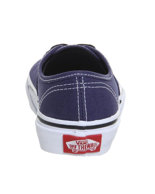 7f028be232ac9e ... Vans - Blue Authentic Kids Trainers - Lyst ...