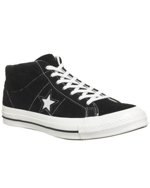 Converse | Black One Star Mid for Men | Lyst