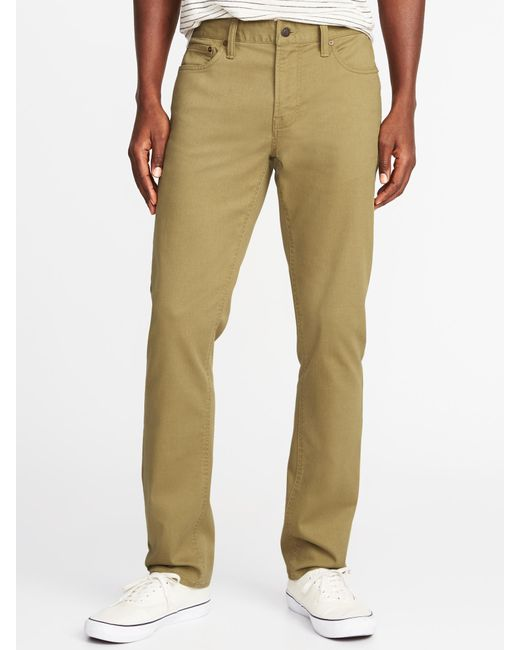 Old Navy - Multicolor Slim Built-in Tough All-temp Twill Five-pocket Pants for Men - Lyst