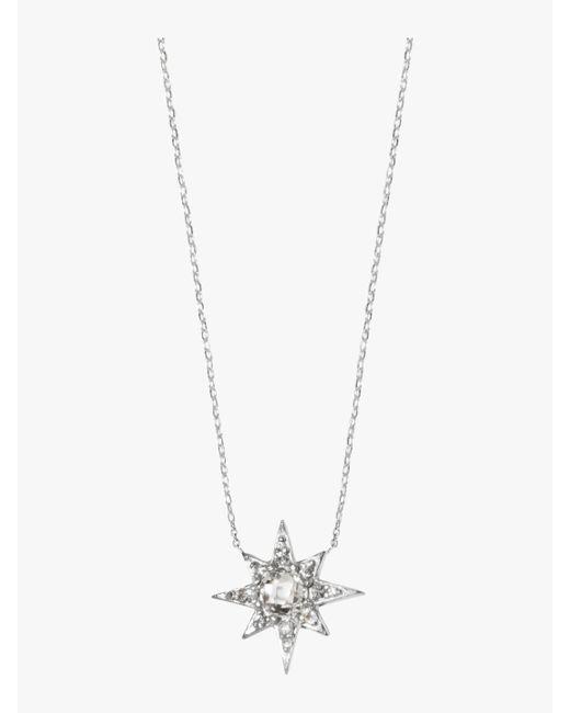 Anzie - Metallic Aztec Mini Starburst Necklace - Lyst