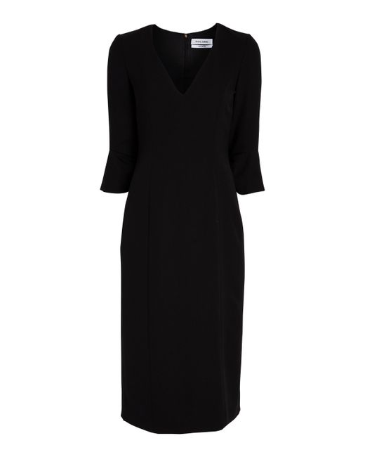 Prabal Gurung - Black V-neck Ruffle Cuff Dress - Lyst