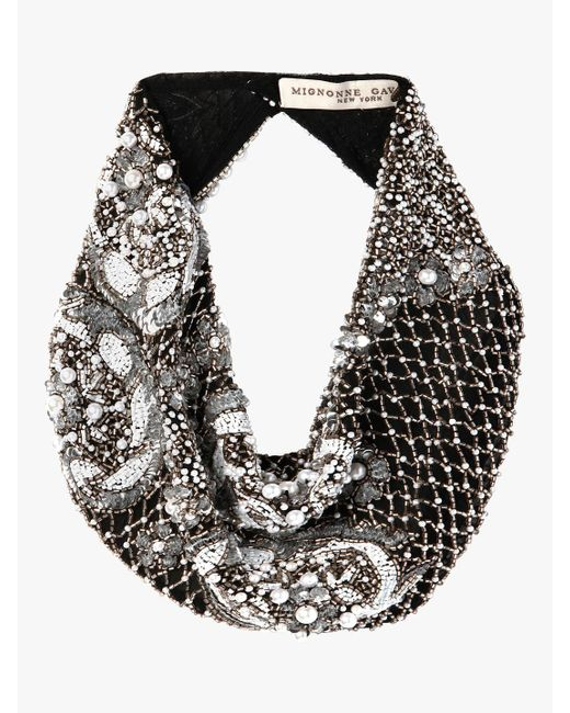 Mignonne Gavigan - Black Le Charlot Pearl Scarf Necklace - Lyst