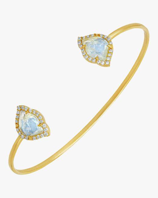 Amrapali - Metallic Nalika Lotus Moonstone Cuff Bracelet - Lyst