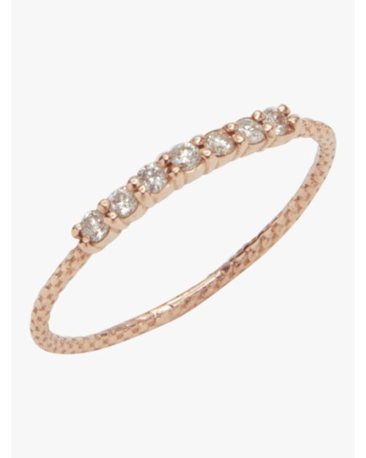 Jacquie Aiche - Multicolor 7 Diamond Vintage Waif Ring - Lyst