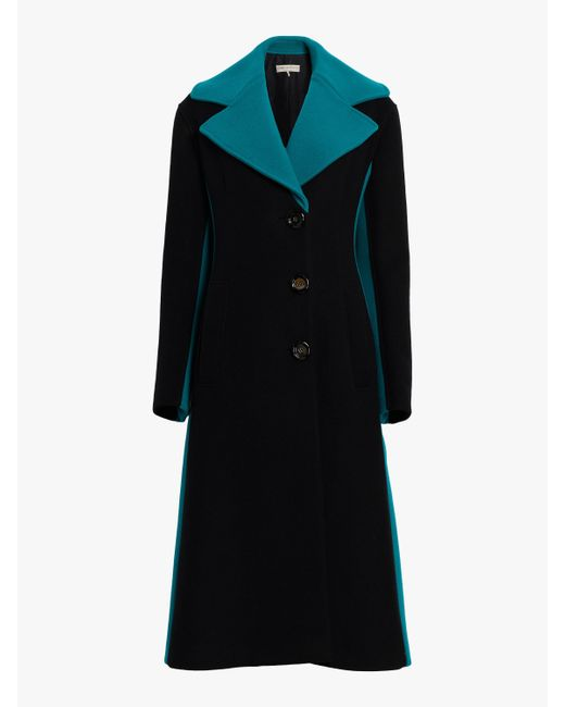 Emilio Pucci - Black Color Block Cashmere Wool Coat - Lyst