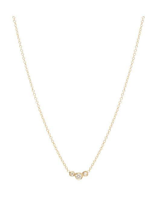 Zoe Chicco - Metallic Graduated Bezel Diamond Necklace - Lyst