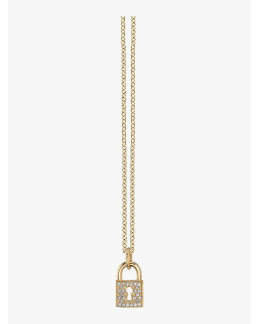 Sydney Evan - Metallic Large Key Hole Lock Charm Necklace - Lyst