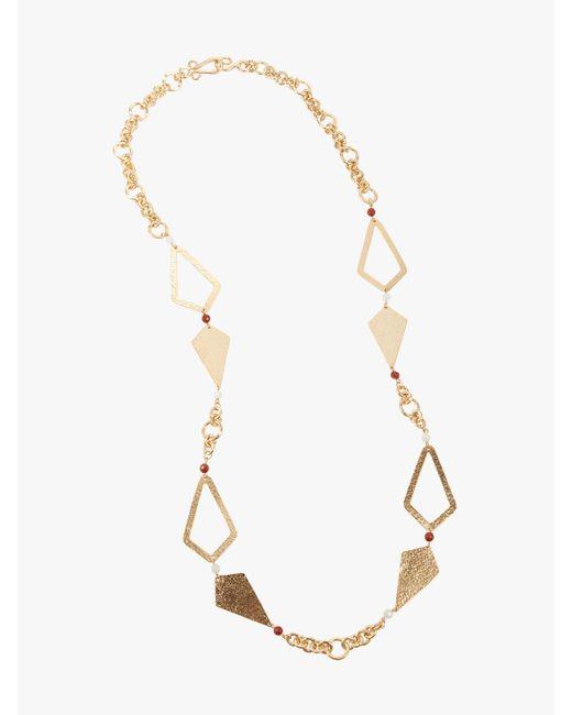 Stephanie Kantis - Metallic Hope Necklace With Red Jasper & White Quartz Necklace - Lyst