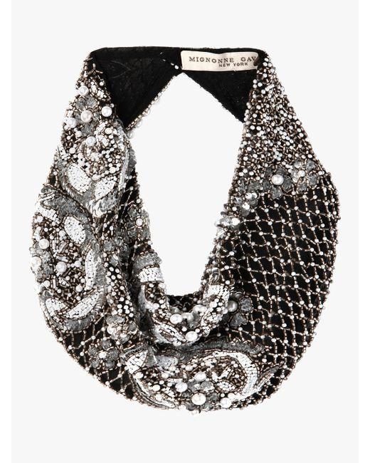 Mignonne Gavigan - Black Le Charlot Pearl Scarf Necklace - Lyst