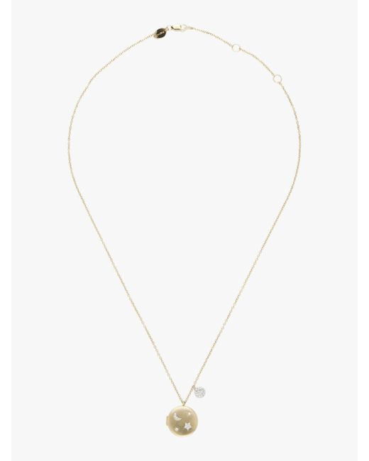 Meira T - Metallic Gold Locket Moon & Star Necklace - Lyst