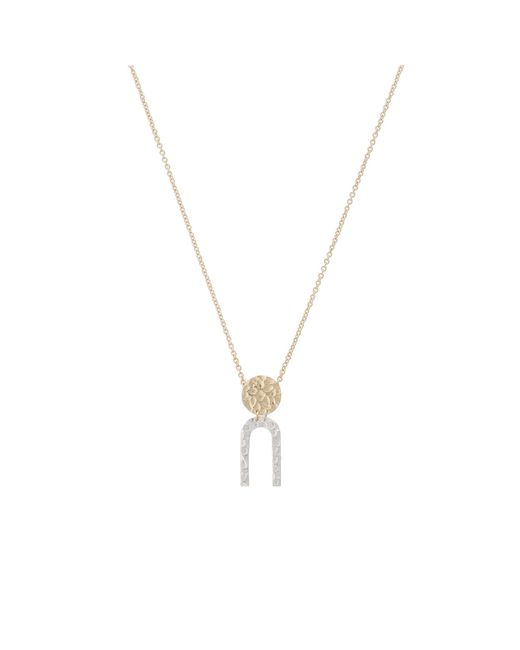 Oliver Bonas - Metallic Ripley Shapes Silver & Gold Plated Necklace - Lyst