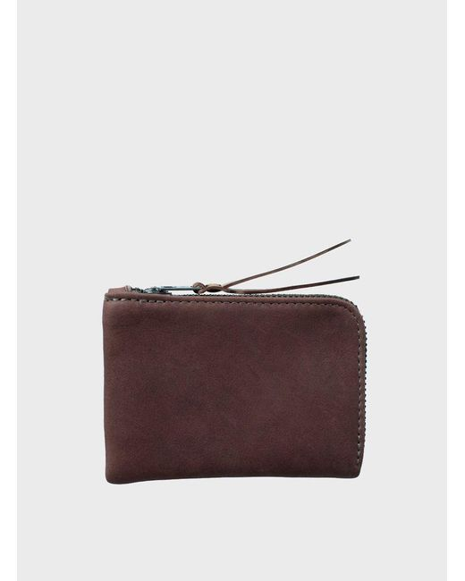 Makr | Brown Walnut Zip Slim Wallet for Men | Lyst
