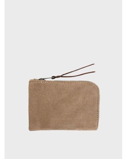 Makr | Natural Khaki Zip Slim Wallet for Men | Lyst