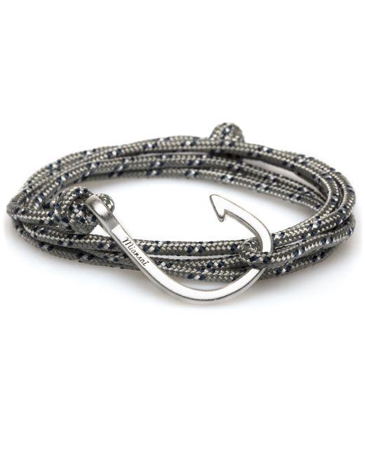 Miansai | Metallic Grey Rope Silver Hook Bracelet for Men | Lyst