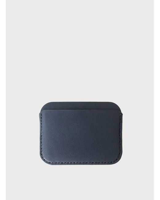 Makr | Blue Navy Round Luxe Wallet for Men | Lyst