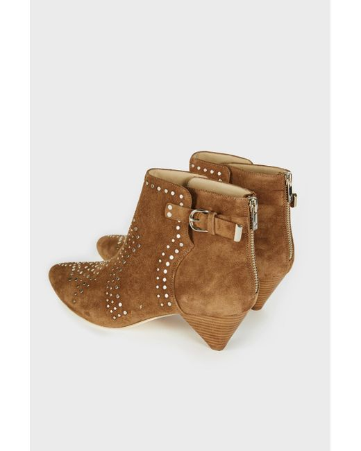 Joie - Brown Bickson Studded Suede Booties - Lyst