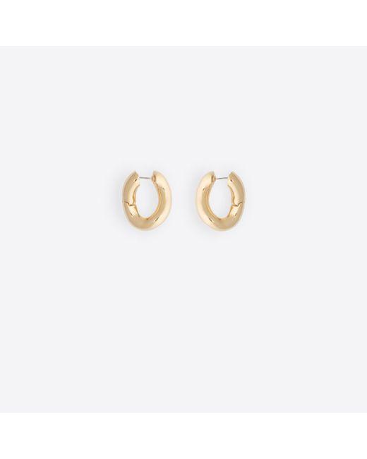 Balenciaga - Metallic Loop Earrings - Lyst