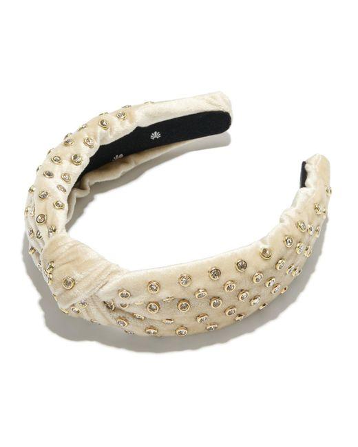 Lele Sadoughi - Multicolor Ivory Crystal Headband - Lyst