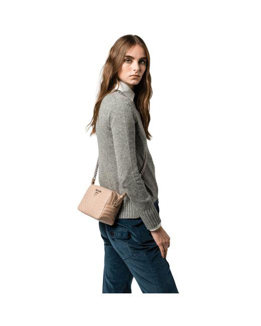 42019a207a01 ... Prada - Multicolor Diagramme Leather Cross-body Bag - Lyst ...