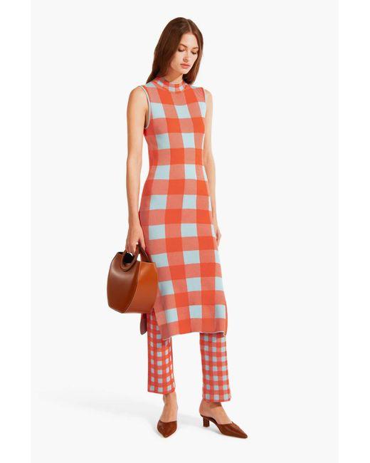 Staud Aperol Dress | Tangerine Dew Blue