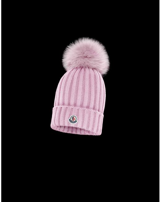 5e50feef253 Moncler - Pink Hat - Lyst ...