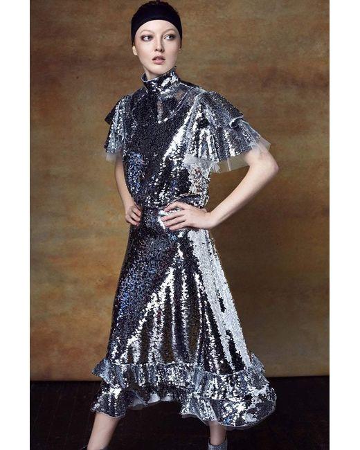 Lyst Sachin Babi Lorelei Dress Final Sale In Metallic