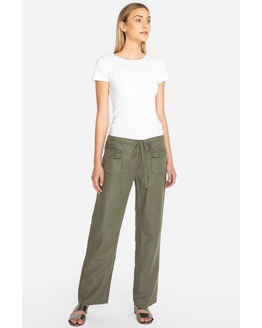 41bbaef58fb Johnny Was - Green Lounger Drawstring Pant - Lyst ...