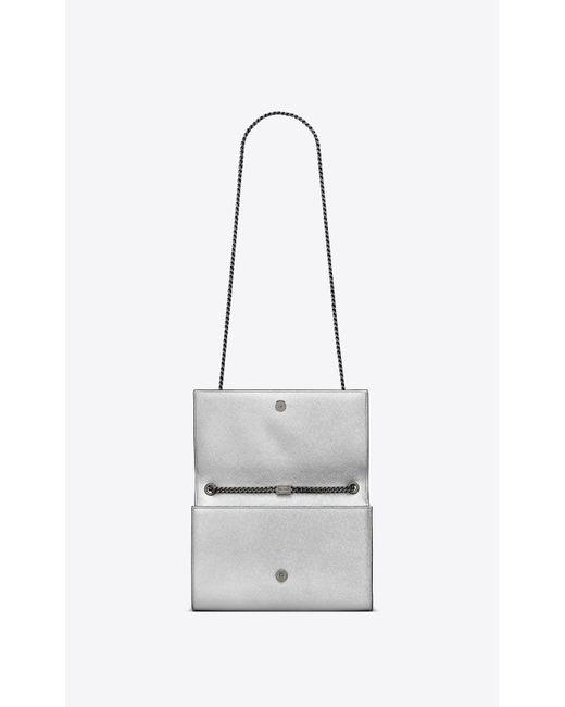 b92d707872c6 ... Saint Laurent - Multicolor Kate Medium Bag In Iridescent Grain De Poudre  Embossed Leather - Lyst ...