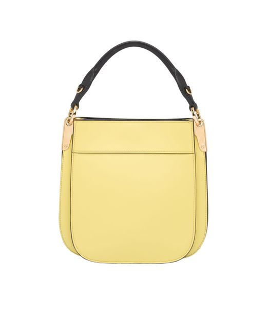 cf873c59e055 ... Prada - Yellow Margit Small Leather Bag - Lyst ...