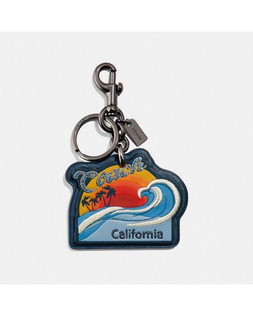 COACH - Blue California Bag Charm - Lyst