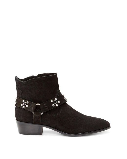 Suede Studs Minkoff Ankle Stella Rebecca Lyst Heeled In Boots tCqRff