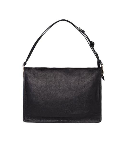 ff12102ecb1e ... Prada - Black Etiquette Leather Shoulder Bag - Lyst ...
