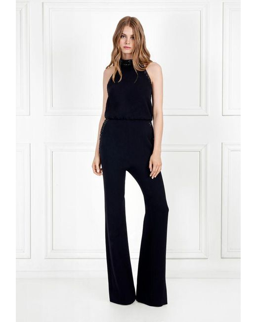0a7190f8a7a91 Rachel Zoe - Black Lou Sequin Embellished Stretch Crepe Jumpsuit - Lyst ...